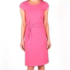 NWT Larry Levine Carmine Rose Pink Dress